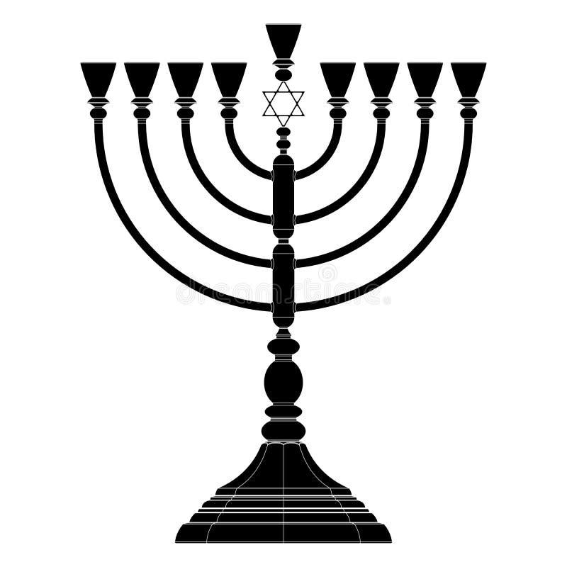 Hanukkah menorah wektor