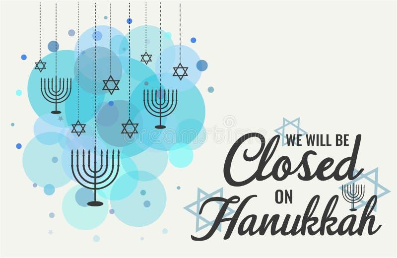 Hanukkah, nós seremos fechados ilustração royalty free
