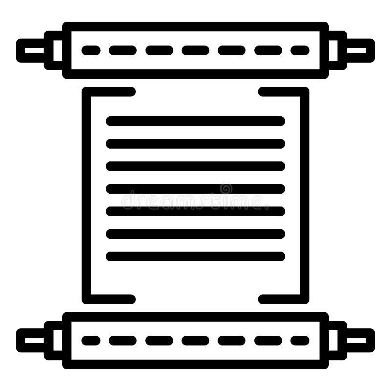 Hanukkah papyrus icon, outline style vector illustration