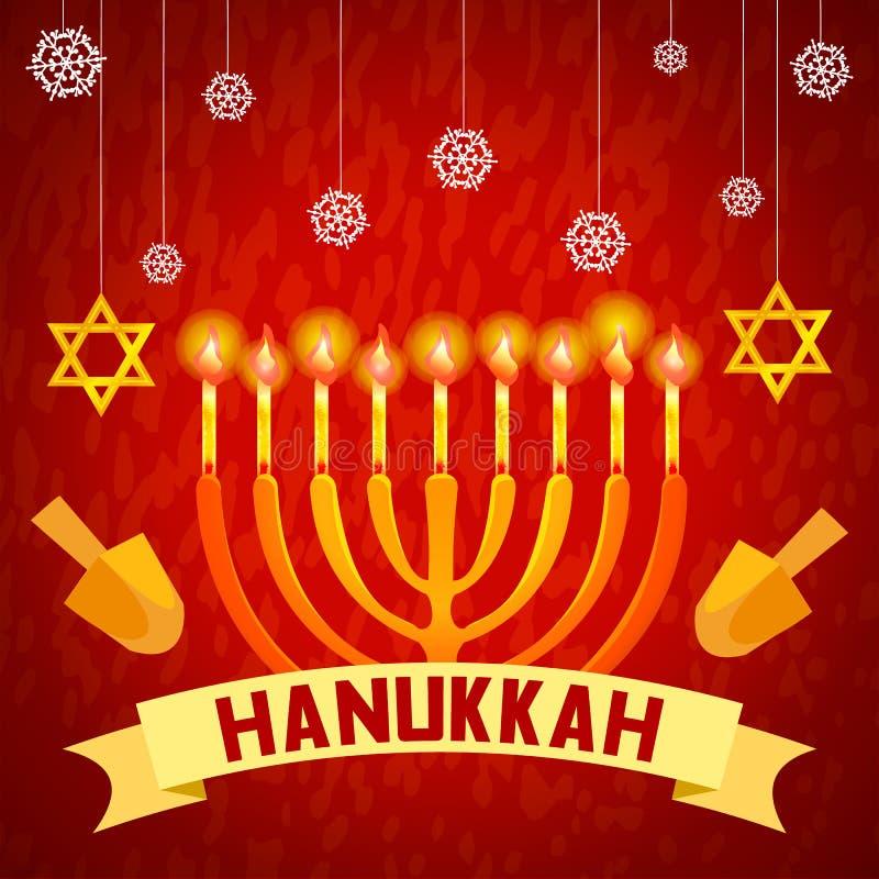 Hanukkah pojęcia tło, kreskówka styl ilustracji