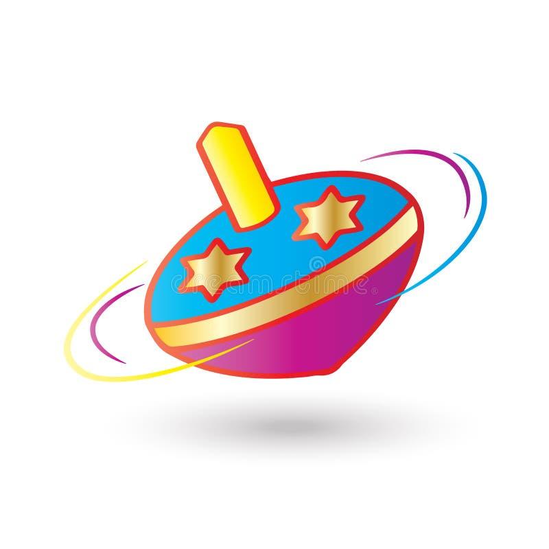 Download Hanukkah spinning top stock vector. Illustration of donut - 80682684