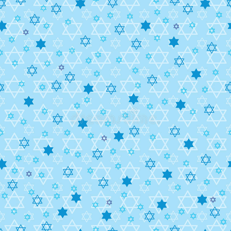 Free Hanukkah Star Blue Pastel Symmetry Seamless Pattern Stock Photography - 63836512
