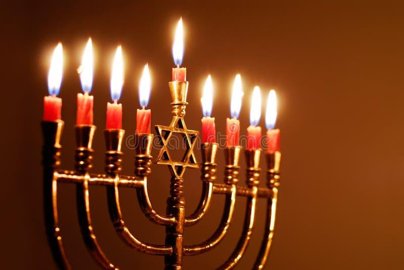 Hanukkah stearinljus fotografering för bildbyråer