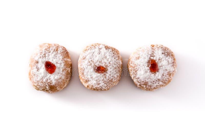 Hanukkah sufganiyot. Traditional Jewish donuts for Hanukkah. stock photography