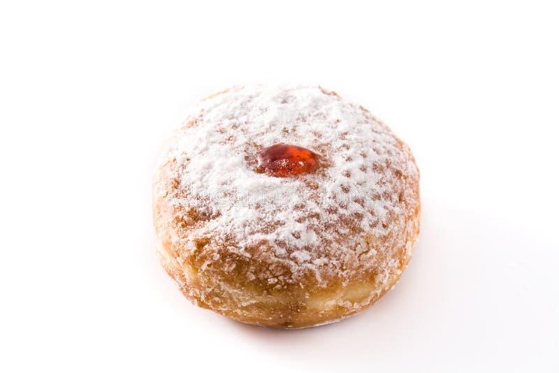 Hanukkah sufganiyot. Traditional Jewish donuts for Hanukkah. stock photo