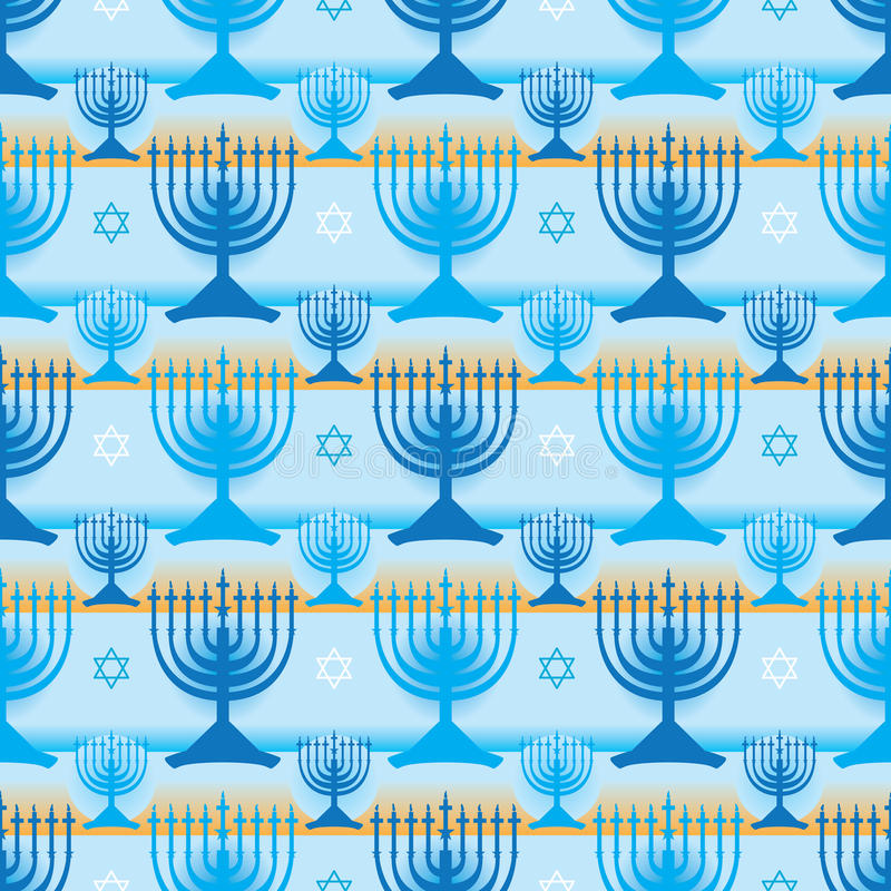 Free Hanukkah Symmetry Many Stripe Seamless Pattern Royalty Free Stock Images - 63997609
