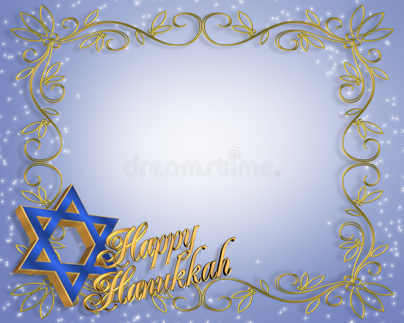 Hanukkah tło karty, ilustracji
