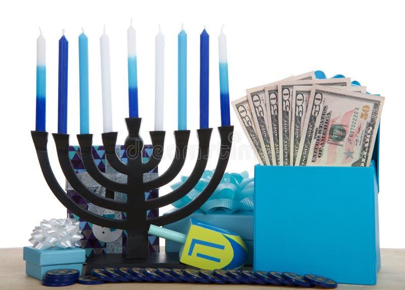 Hanukkah teraźniejszość i fotografia royalty free