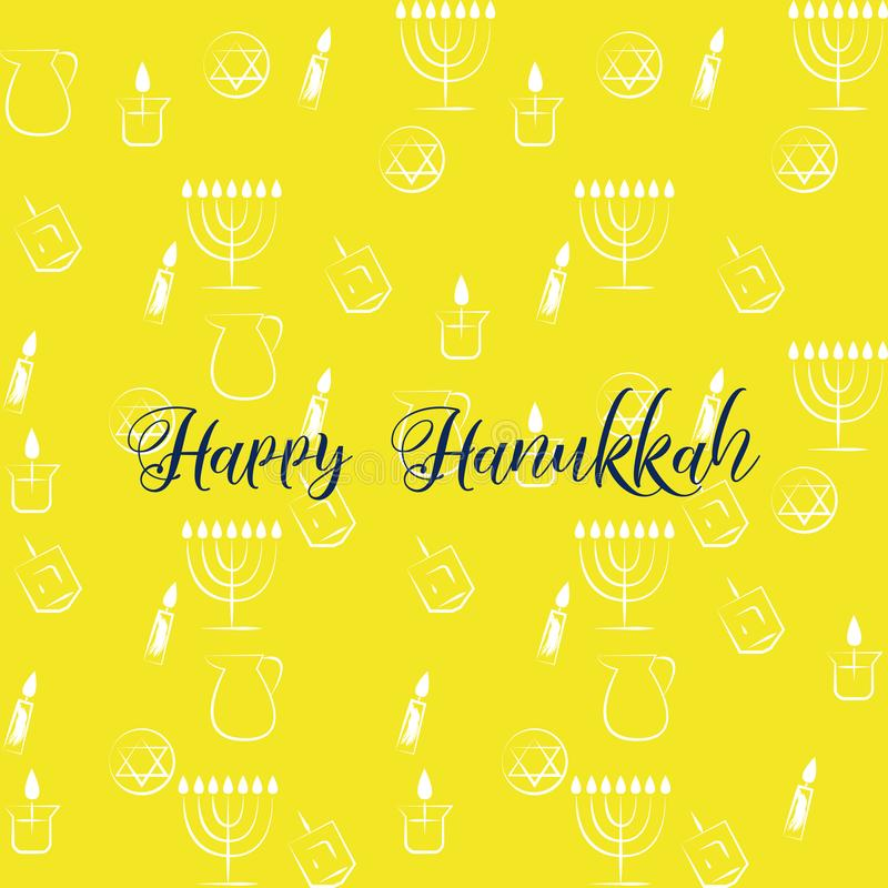 Hanukkah Traditional Jewish Holiday Symbols Set Vector Collection