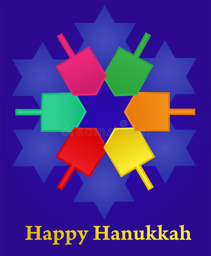 Hanukkah wektorowa ilustracja
