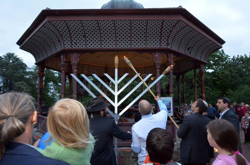 Hanukkah - Żydowski wakacje zdjęcia stock