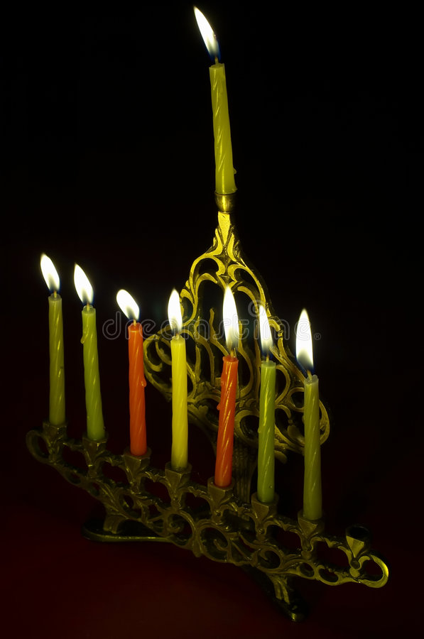 hanukkiya świeczki hanuka zdjęcie royalty free