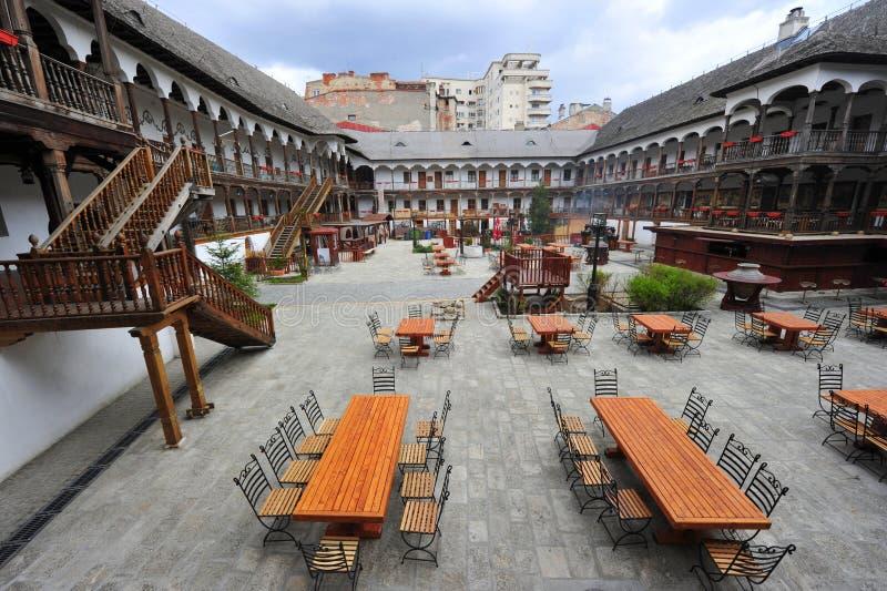 Hanul lui Manuc - Bucharest old city center. The famous restaurant in the center of Bucharest called Hanul lui Manuc