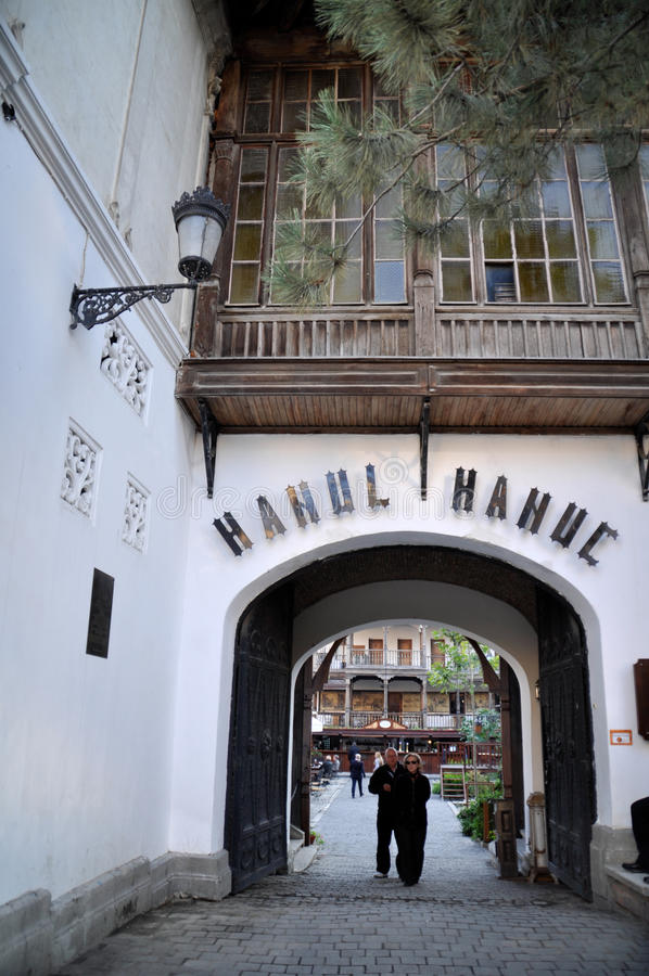 Download Hanul Manuc Bucharest editorial stock image. Image of beverages - 34235139