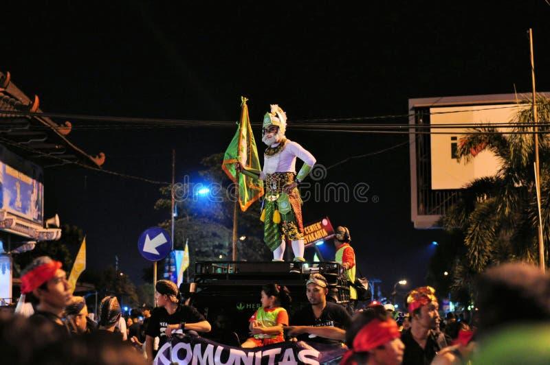 Hanuman印度猴子上帝,日惹市节日 免版税库存照片