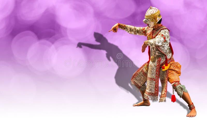 Hanuman战士,猴子的神在Ramayana故事的 库存图片
