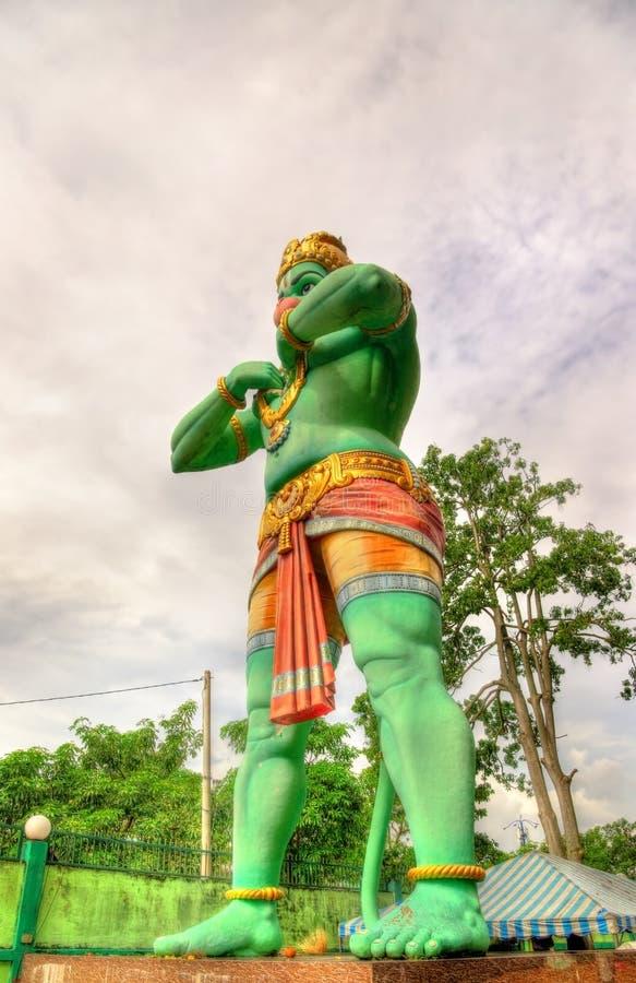Hanuman雕象,一个印度神, Ramayana洞的,黑风洞,吉隆坡 免版税库存照片