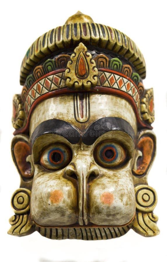 Hanuman,一个传统尼泊尔面具 库存照片