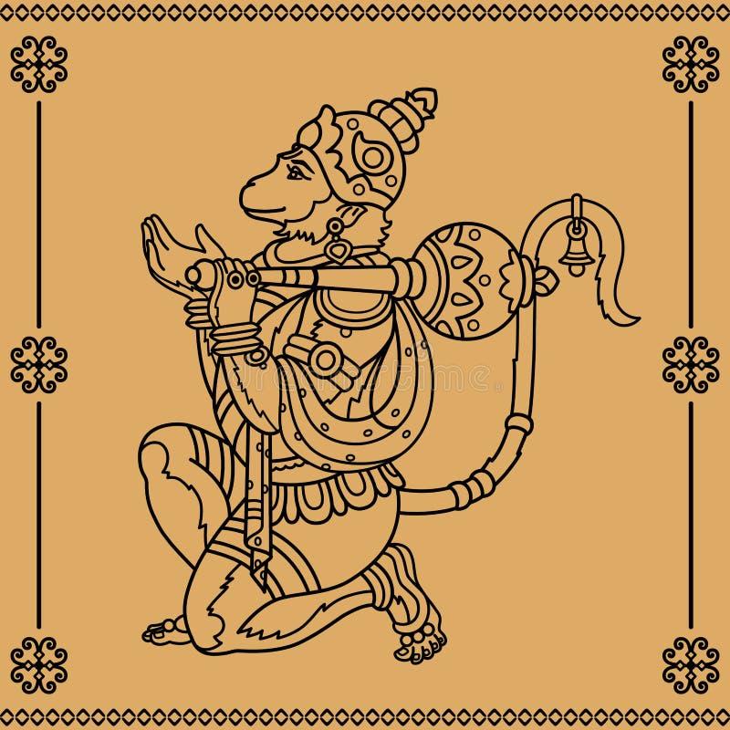 Hanuman ilustración del vector
