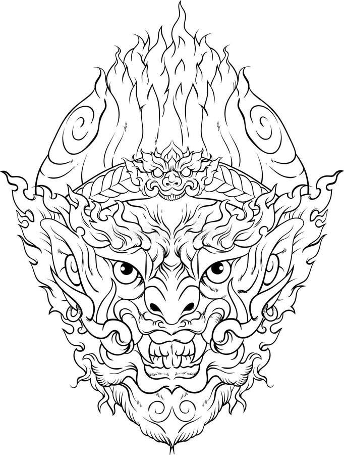 Hanuman стоковая фотография rf