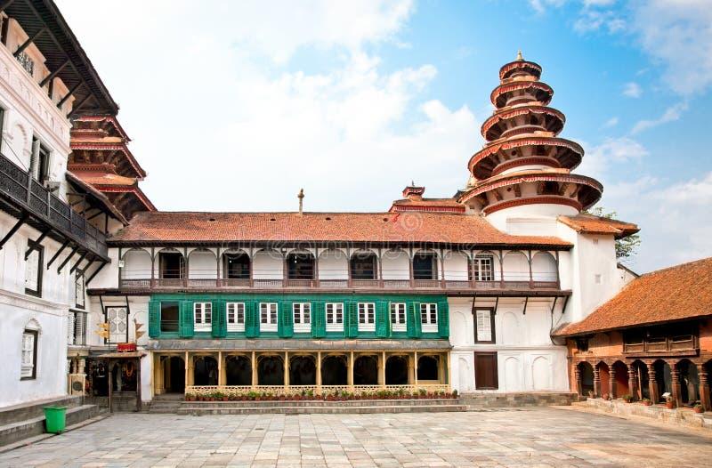 Hanuman Dhoka Durbar fyrkant i Katmandu, Nepal. royaltyfria bilder