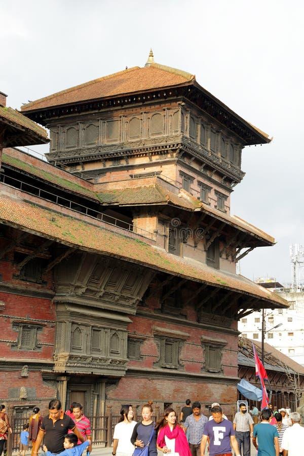 Hanuman Dhoka Durbar lokalizuje w środkowym ge i Kathmandu zdjęcia stock