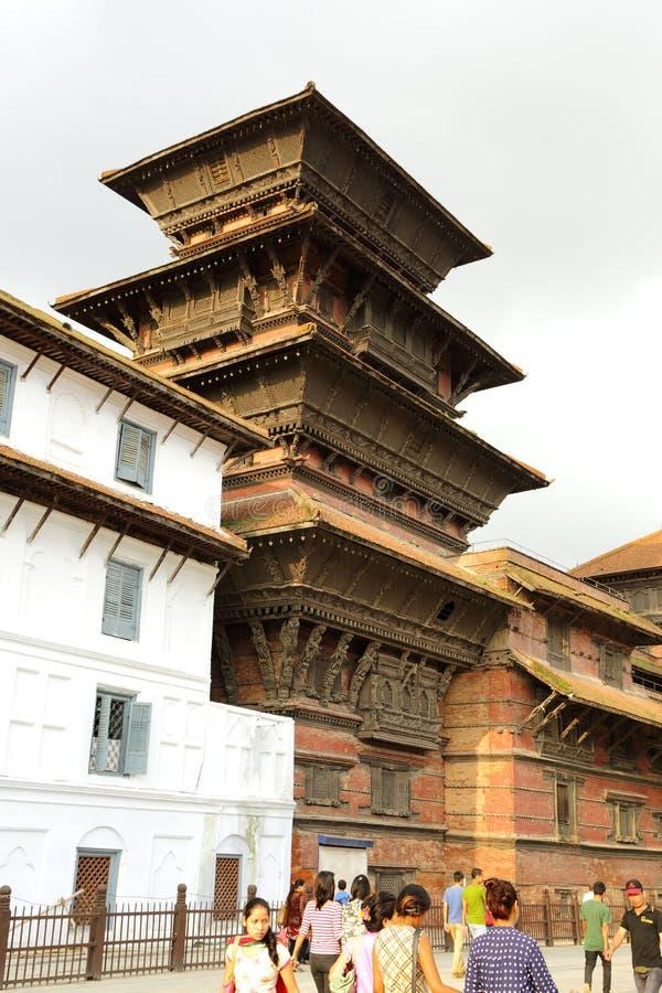 Hanuman Dhoka Durbar lokalizuje w środkowym ge i Kathmandu fotografia stock