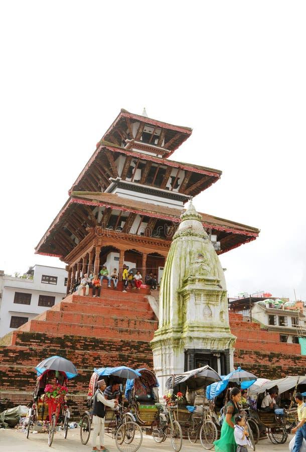 Hanuman Dhoka Durbar placeras i det centrala Katmanduet och gen royaltyfri fotografi