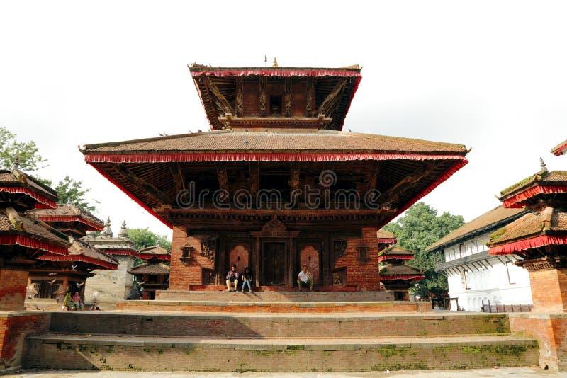 Hanuman Dhoka Durbar placeras i det centrala Katmanduet och gen royaltyfria bilder
