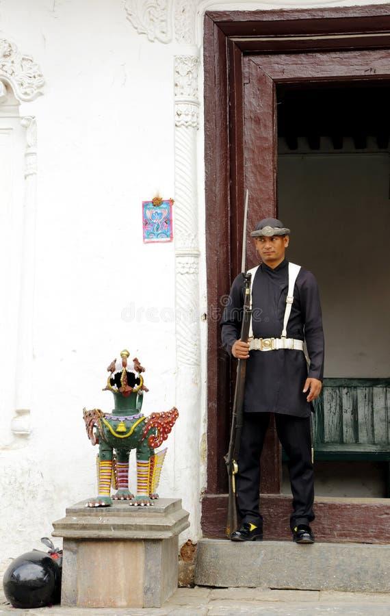 Hanuman Dhoka Durbar placeras i det centrala Katmanduet och gen fotografering för bildbyråer