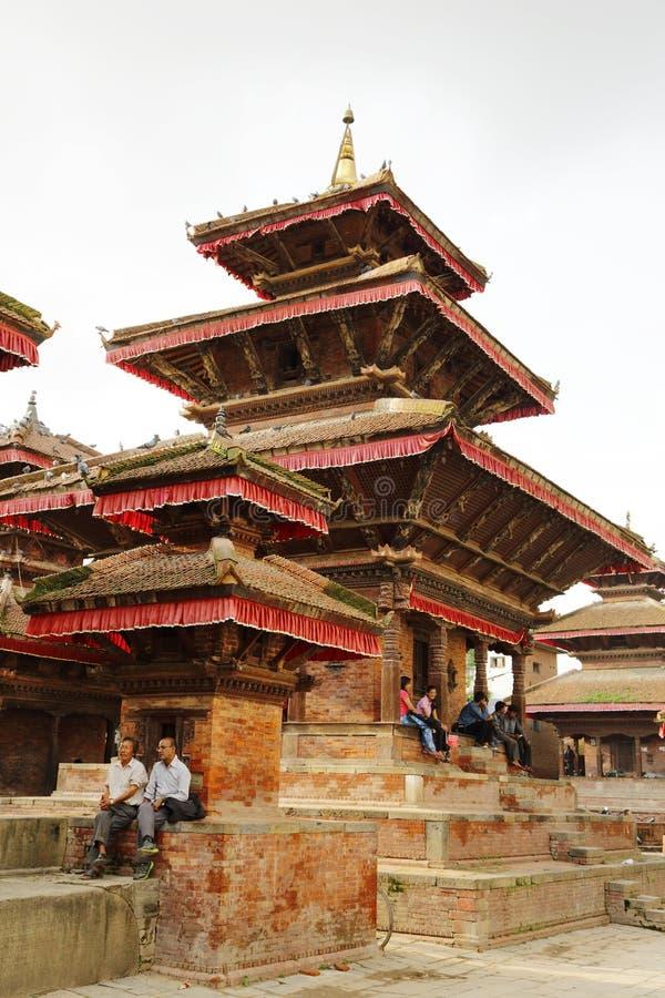 Hanuman Dhoka Durbar placeras i det centrala Katmanduet och gen arkivfoto