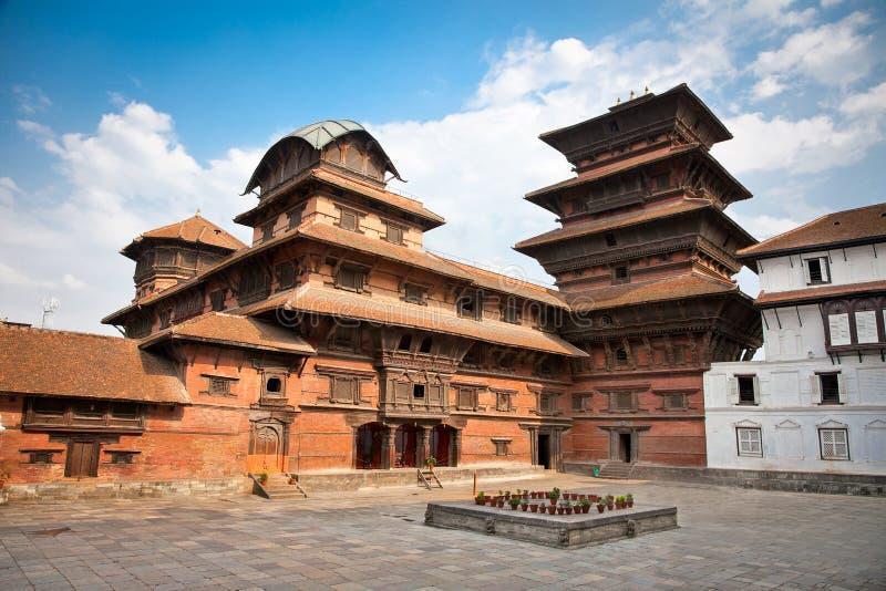 Hanuman Dhoka gamla Royal Palace, Durbar fyrkant i Katmandu, Ne royaltyfri fotografi