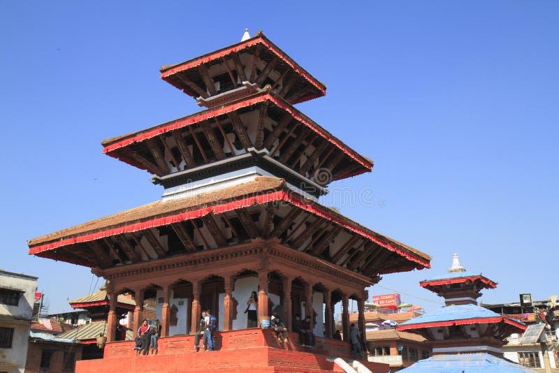 Hanuman Dhoka i Katmandu, Nepal arkivfoton