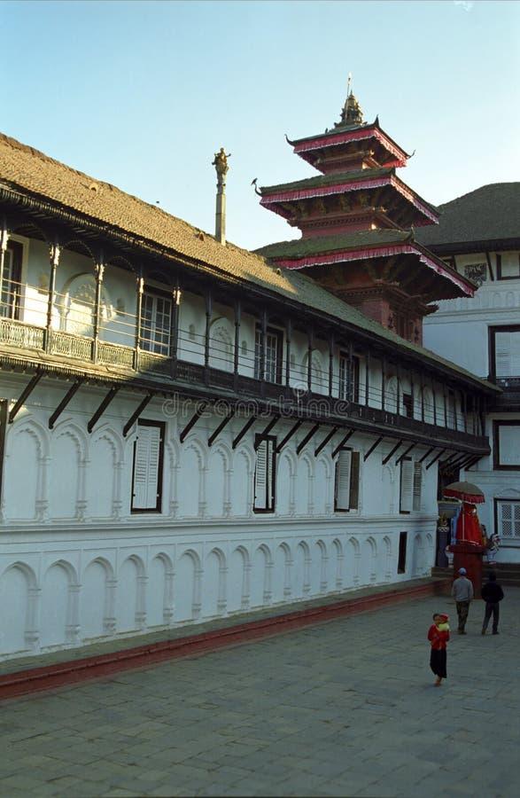 Hanuman Dhoka Katmandu, Nepal arkivbilder