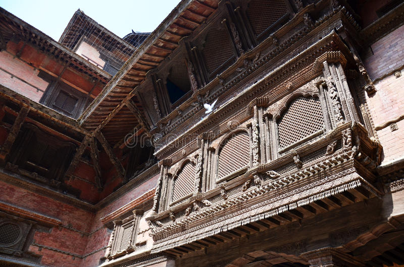 Hanuman Dhoka Royal Palace przy Kathmandu Durbar kwadratem Nepal fotografia royalty free