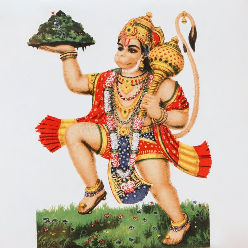 Hanuman - divinità indù immagini stock