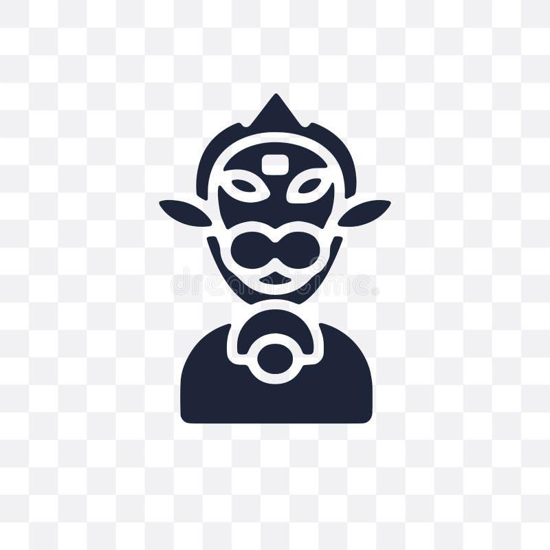 Hanuman genomskinlig symbol Hanuman symboldesign från Indien colle vektor illustrationer