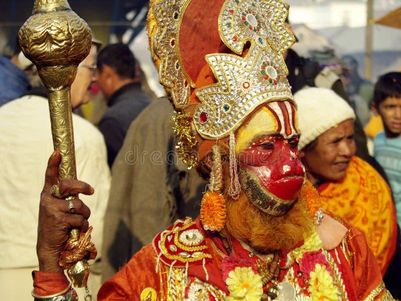 hanuman head apor royaltyfria foton