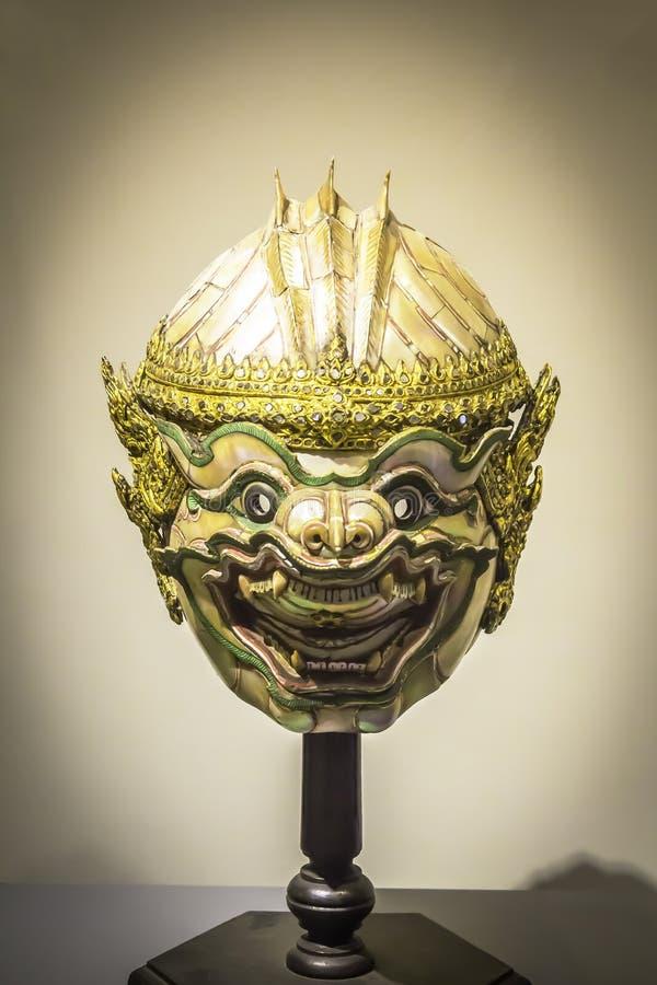 HANUMAN KHON-MASKERING, skulptur royaltyfria bilder