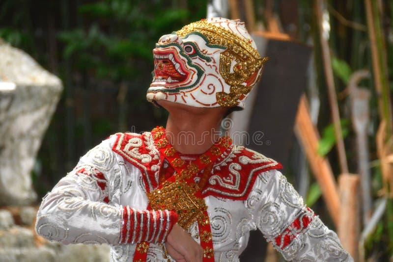 Hanuman-Krieger der Gott des Affen in ramayana Geschichte lizenzfreies stockbild