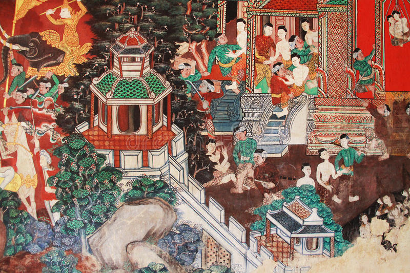 Hanuman painting stock images