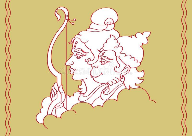 hanuman RAM stock illustrationer