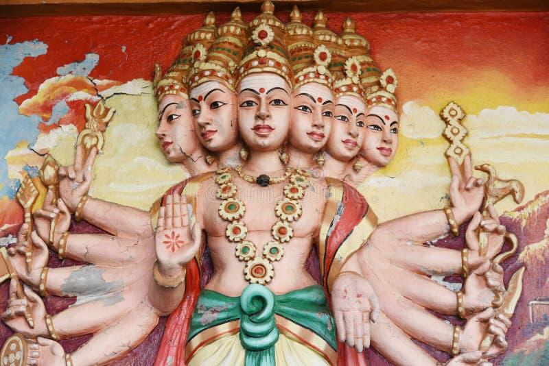 Hanuman statues in Hindu Temple. royalty free stock photography