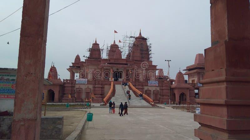 Hanuman Temple famoso india Ramnagar no estilo indiano imagem de stock royalty free