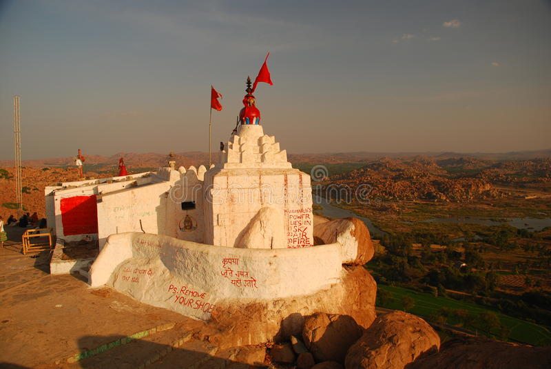 Hanuman temple, Hampi, Karnataka, India stock images