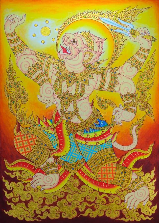 Hanumanen vektor illustrationer