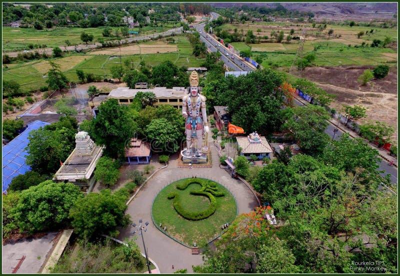 Hanumavatika Langst in Odisha-Standbeeld stock foto