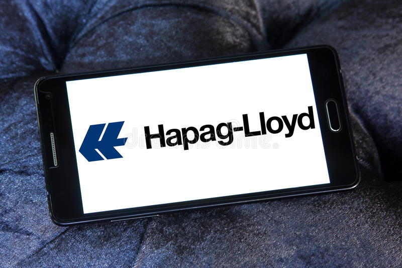 Hapag lloyd container shipping logo stock photos