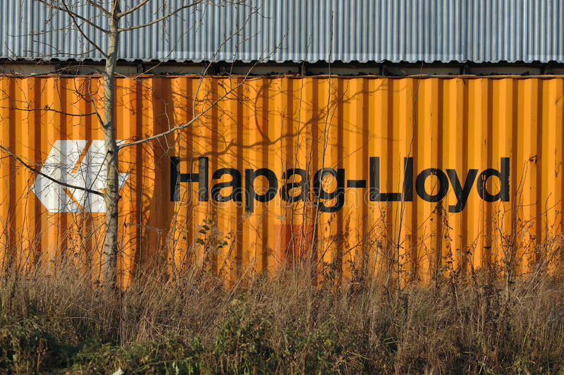 Hapag-Lloyd container. stock photo