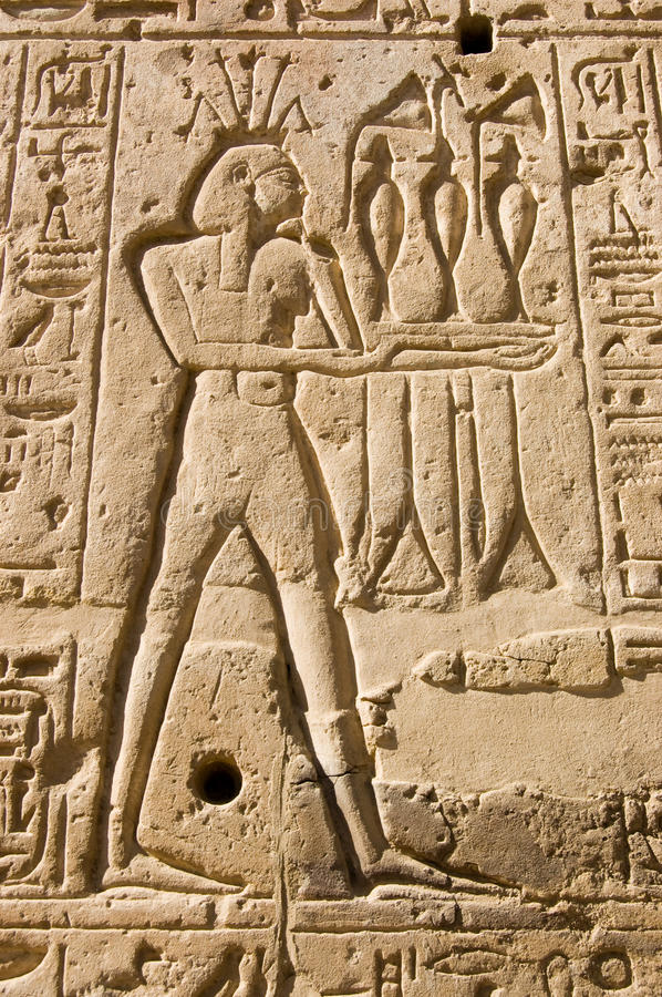 Hapi god of the nile stock image history stone